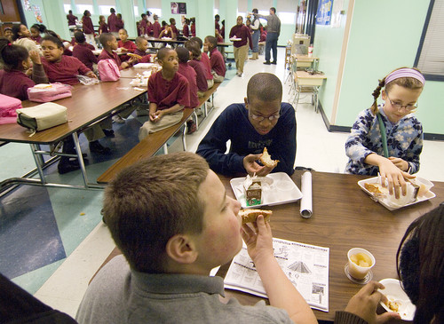 CN students sample other schools' lunches.